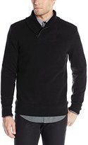 Calvin Klein Men's Long Sleeve Solid Quilted Fleece Shawl