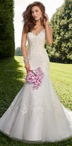 Camille La Vie Sweetheart Lace Applique Wedding Dress