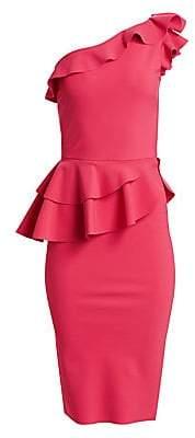 Chiara Boni Women's Jiva Asymmetric Ruffle Bodycon Dress