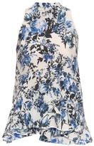 Erdem Rosa Blue Hill Garden-print top