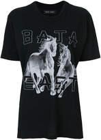 Baja East two horse print T-shirt