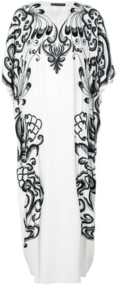 Josie Natori Couture Hand-Embroidered Kaftan