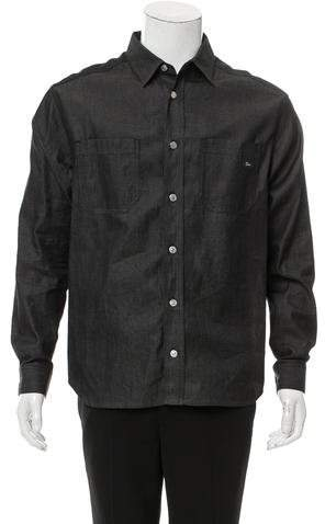 Christian Dior Denim Button-Up Shirt