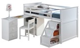 ACME Furniture Wyatt Kids Loft Bed with Swivel Desk and Chest - White(Twin) - Acme