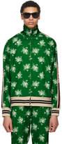 Gucci Green Floral Logo Track Jacket