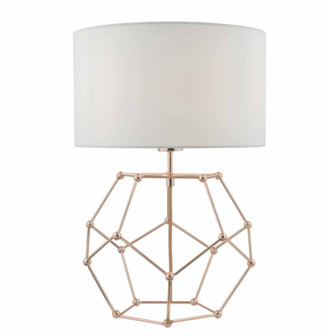 Där Lighting Dar Lighting - Coen Table Lamp In Copper With White Cotton Shade - Copper