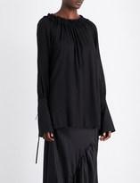 Ann Demeulemeester Drawstring-collar woven top
