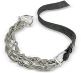 Giacomoburroni Giacomo Burroni Leather Bracelet W/silver Braid