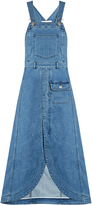 See by Chloe Curved-hem denim apron dress