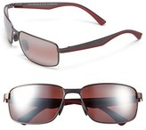 Maui Jim Men's 'Backswing - Polarizedplus2' 61Mm Polarized Sunglasses - Satin Dark Gunmetal/ Maui Rose