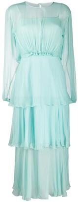 Alberta Ferretti Ruffled Midi Dress