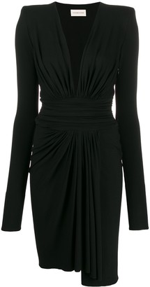 Alexandre Vauthier Plunge-Neck Midi Dress