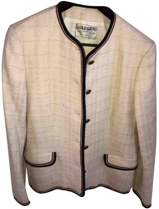 Jaeger White Wool Jacket for Women Vintage