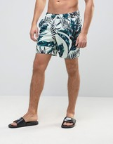 Asos Swim Shorts With Floral Print In Mid Length