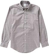 Brooks Brothers Non-Iron Regent Fit Long-Sleeve Glen Plaid Woven Shirt