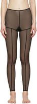 Ann Demeulemeester Black La Fille Do Edition Tulle Leggings