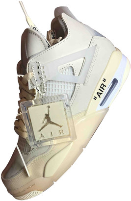 Nike x Off-White Air Jordan 4 Beige Leather Trainers