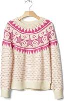 Gap Intarsia star sweater