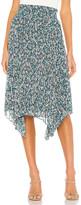 1 STATE Woodland Floral Handkerchief Hem Skirt