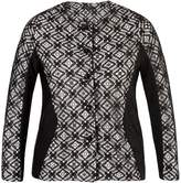 House of Fraser Chesca Lace Trim Ottoman Stripe Jersey Jacket