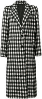Tagliatore houndstooth long coat