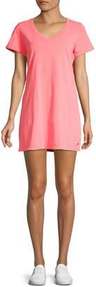 Calvin Klein Heathered Cotton T-Shirt Dress