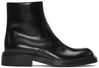 Prada Black Zip-Up Boots