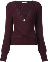 Tome cut-off detailing V-neck blouse - women - Wool - S