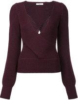 Tome cut-off detailing V-neck blouse
