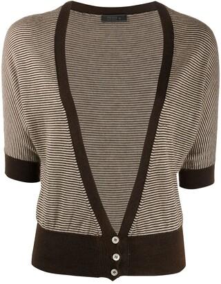 Prada Pre-Owned Striped Knit Cardigan
