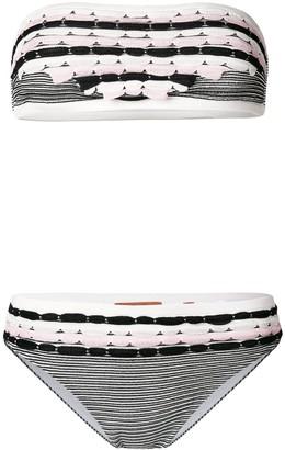 Missoni Mare Scalloped And Stripe Knit Bikini