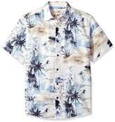 Margaritaville Men's Short Sleeve Scenic Island Print Shirt