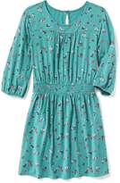 Old Navy Floral Smocked-Waist Dress for Girls