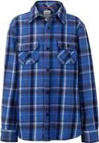 Fat Face Boys Blue Plaid Shirt