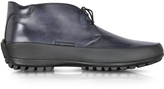 Pakerson Smoke Blue Leather Ankle Boot w/Rubber Sole
