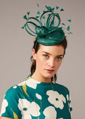 Phase Eight Paloma Feather Pillbox Fascinator