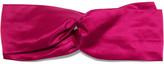 Jennifer Behr Silk-satin Headband - Pink