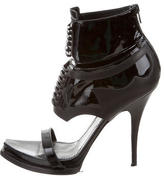 Givenchy Paneled Patent Leather Sandals