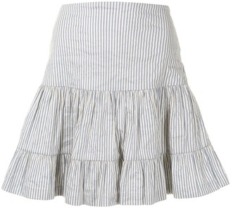 Nicole Miller Pinstripe-Print High-Waisted Skirt