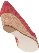 Theodora & Callum Archive Wedge Espadrille Orange Linen