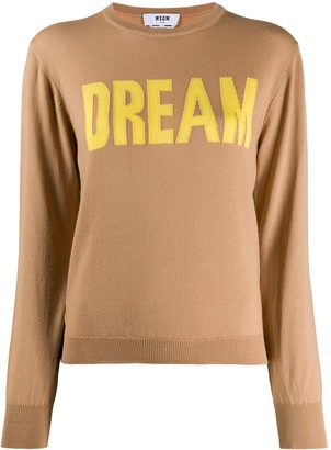 MSGM Dream intarsia jumper