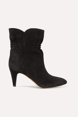 Isabel Marant Dedie Suede Ankle Boots - Black