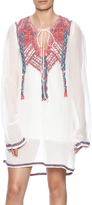 Biya Embroidered Linen Tunic