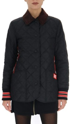 Burberry Quilted Logo Buttoned Jacket
