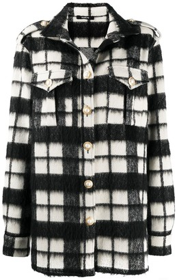 Amen Oversize Checked Knitted Shirt