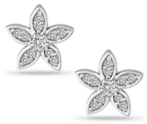 Giani Bernini Cubic Zirconia Star Flower Stud Earrings in Sterling Silver, Created for Macy's