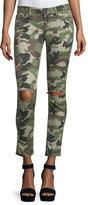 DL1961 Emma Camouflage Distressed Skinny Jeans, Warden