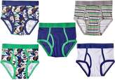 Trimfit Big Boys' 100 Percent Cotton Tagless Assorted Briefs 5-Pack (Dino Camo: Navy/Green/Beige/White, S)