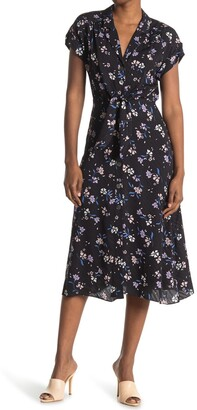 Veronica Beard Amani Floral Silk Blend Midi Dress