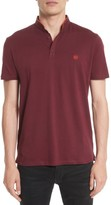 The Kooples Men's Piped Band Collar Pique Polo